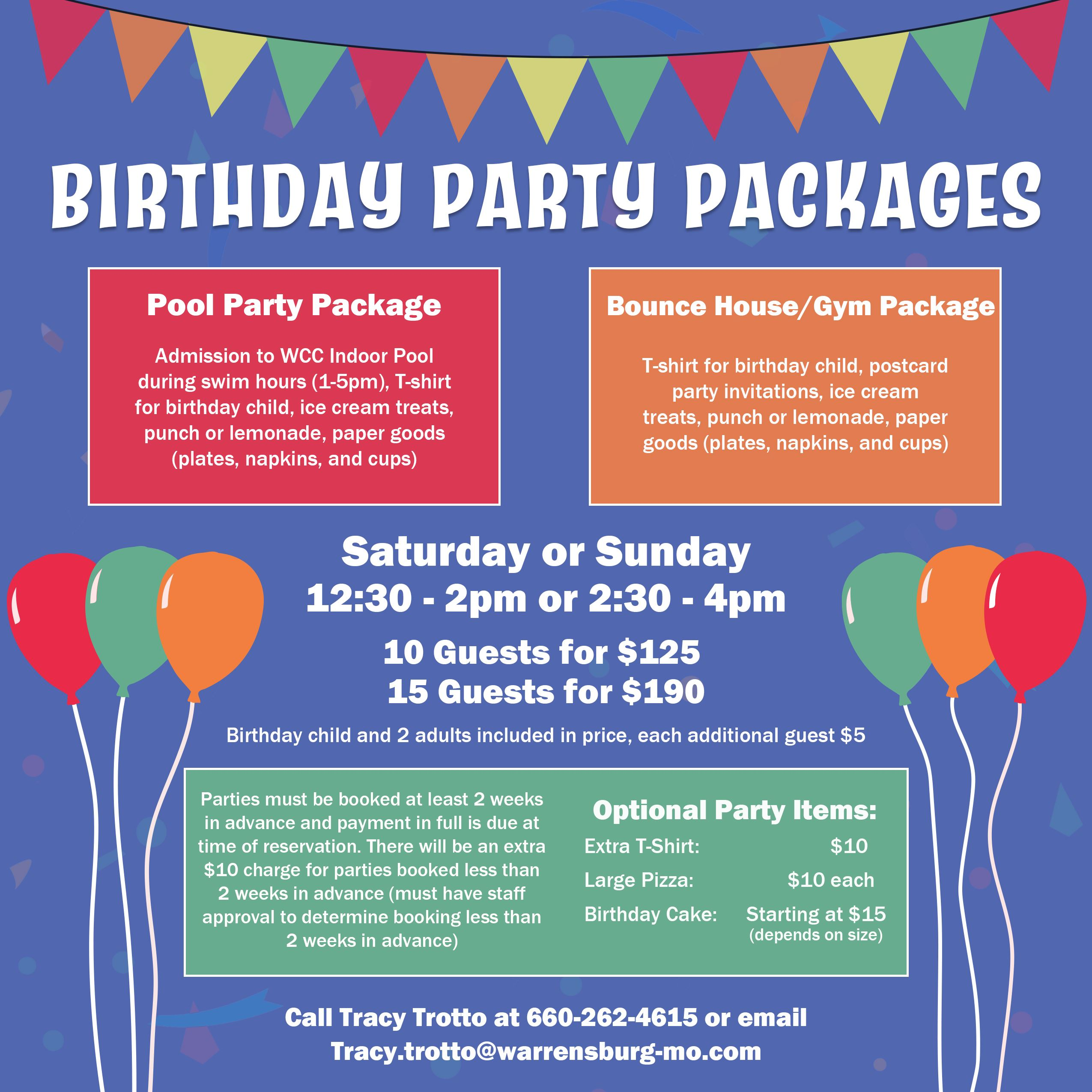 Birthday Party Packages Web 2021